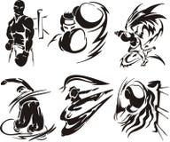 Esporte extremo 1. ilustração do vetor