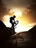 Esporte extremo da bicicleta fotografia de stock