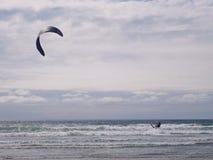 Esporte extremo Kiteboarding do verão Foto de Stock Royalty Free