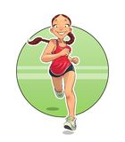 esporte Menina running Fotos de Stock