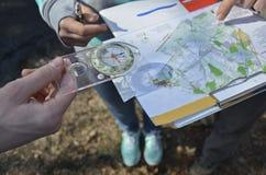 Esporte que orienteering Fotografia de Stock Royalty Free