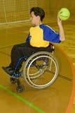Esporte tido desvantagens da pessoa na cadeira de rodas Fotografia de Stock Royalty Free
