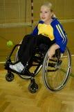 Esporte tido desvantagens da pessoa na cadeira de rodas Foto de Stock Royalty Free