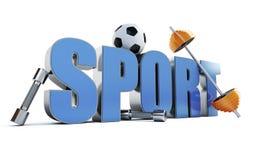 Esportes da palavra Imagens de Stock Royalty Free