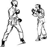 Esportes das artes marciais de Kyokushinkai do karaté Foto de Stock Royalty Free