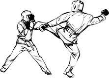 Esportes das artes marciais de Kyokushinkai do karaté Fotografia de Stock