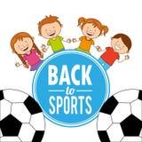 Esportes das crianças ilustração do vetor