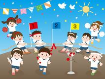 Esportes day2 ilustração royalty free