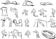 Esportes de equipe ilustração royalty free