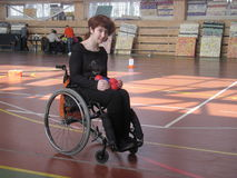 Esportes de invalids deficientes da cadeira de rodas Imagens de Stock Royalty Free