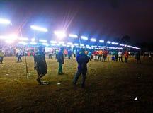 Esportes de Petanque para povos de todas as idades imagens de stock