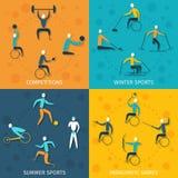 Esportes deficientes ajustados ilustração stock