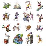 Esportes diferentes ilustração stock
