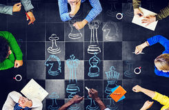 Esportes do jogo de mesa da xadrez que jogam o conceito Imagens de Stock Royalty Free
