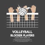 Esportes dos jogadores do bloco do voleibol ilustração royalty free