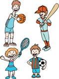 Esportes dos miúdos ilustração royalty free