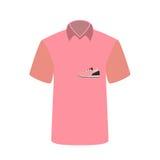 Esportes e aptidão do t-shirt da mulher Ilustração do vetor Imagens de Stock Royalty Free