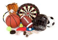 Esportes e arranjo dos jogos Foto de Stock