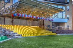 Esportes e facilidades recreacionais para eventos e celebrações Fotografia de Stock