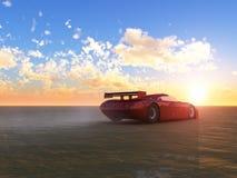 Esportes e nascer do sol vermelhos Fotografia de Stock Royalty Free