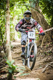 Esportes em declive da bicicleta Foto de Stock