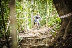 Esportes em declive da bicicleta Imagens de Stock Royalty Free