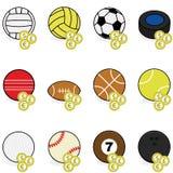 Esportes que apostam ícones Fotografia de Stock