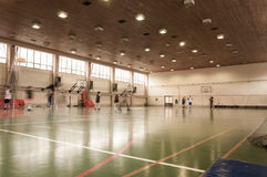 Esportes salão da escola Imagens de Stock Royalty Free