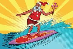 Esportes Santa Claus em uma prancha ilustração do vetor