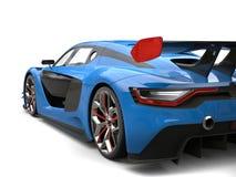 Esportes super esquema de cores automobilístico dos azuis marinhos e do preto com detalhes vermelhos ilustração stock