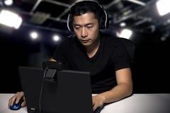 ESports Fachowy Konkurencyjny Gamer zdjęcia royalty free