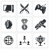 ESports icons set Stock Image