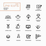 Esports - Single Line Pictograms Set Royalty Free Stock Images