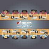 ESports5v5 gelijke, team tegenover team royalty-vrije illustratie