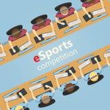 ESports5v5 gelijke, team tegenover team stock illustratie