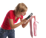 Esposa ciumento em provas da busca Fotos de Stock
