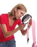 Esposa ciumento em provas da busca atenta Imagem de Stock