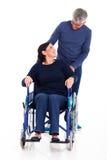 Esposa deficiente do homem Fotos de Stock Royalty Free