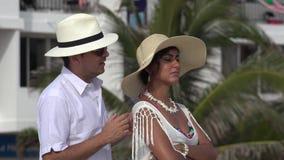 Esposa enojada casada de la pareja almacen de metraje de vídeo