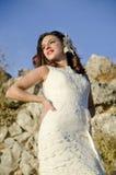 Esposa exterior Imagens de Stock Royalty Free