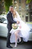 Esposa y marido de la boda fotografía de archivo libre de regalías