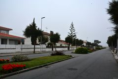 Esposende, the second day of the way to Santiago de Compostela Royalty Free Stock Image