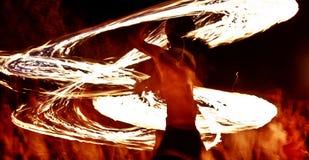 Esposizione 10 del fuoco Fotografia Stock Libera da Diritti
