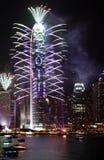 Esposizione 2011 dei fuochi d'artificio di conto alla rovescia Immagini Stock Libere da Diritti