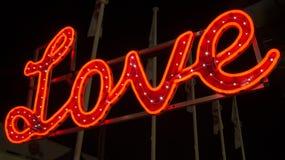 Esposizione al neon di amore immagini stock