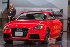Esposizione automatica 2013 di Audi TT RS Chicago Fotografia Stock Libera da Diritti