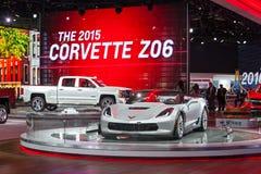 Esposizione automatica 2015 della corvetta ZO6 Detroit Immagine Stock Libera da Diritti