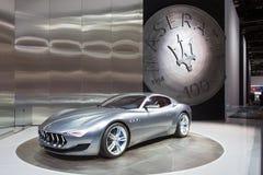 Esposizione automatica 2015 di Maserati Alfieri Detroit Fotografia Stock Libera da Diritti