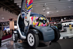 Esposizione automatica di Parigi, automobile elettrica di Renault Fotografia Stock Libera da Diritti