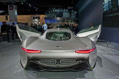 Esposizione automatica di Parigi, vettura da corsa elettrica del giaguaro Fotografia Stock Libera da Diritti
